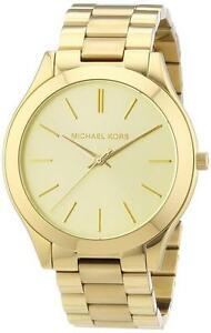 6340fdf11aea9 Image is loading New-Michael-Kors-Stainless-Steel-Gold-Tone-MK3179-