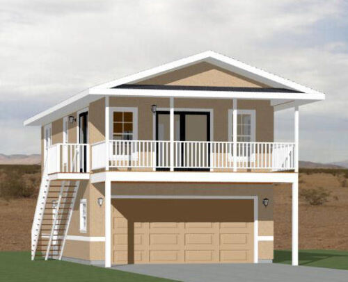 2 Bedroom PDF Floor Plan Model 7I 4:12 Roof Pitch 20x32 House