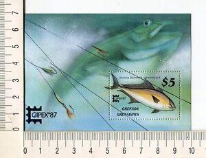 36751) Grenada Grenadines 1987 MNH Fish - Amberjack S/S