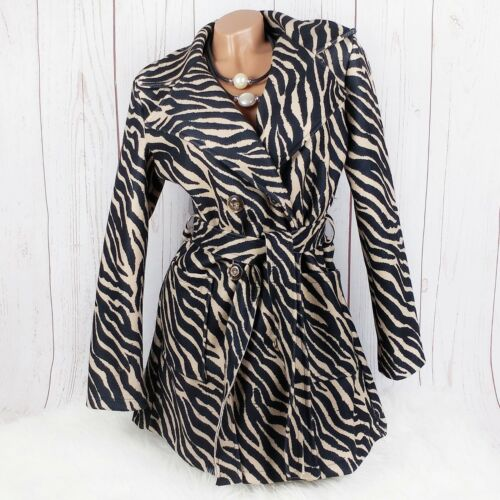 Fluff Coat Trench Coat Animal Soir Pattern Business Boutique Jacket 5OdqfZd