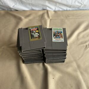 Nintendo-NES-lot-of-17-Games-Metroid-TMNT-Tecmo-Super-Bowl-Etc