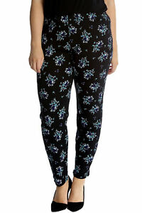 Logisch New Womens Trousers Plus Size Ladies Floral Print Leggings Elasticated Nouvelle Dauerhafte Modellierung