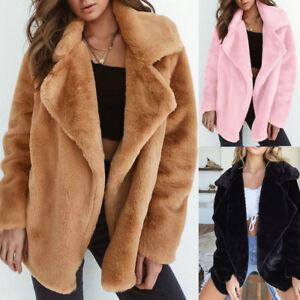 Women-Warm-Knitted-Sweater-Jumper-Cardigan-Outwear-Fluffy-Coat-Fleece-Fur-Jacket
