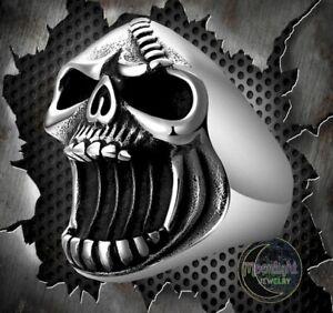 New-Skull-Beer-Bottle-Opener-Grim-Reaper-Ghost-Gothic-Biker-Silver-Ring