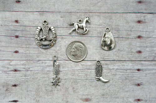 Boot Hat 12pc or 5pc Cowboy Country Western Charm Set Lot Collection Horse