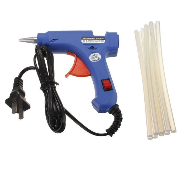 Mini Professional Electric Heating Hot Melt Glue Gun 20W + 10 Free Glue Sticks
