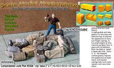 Junk Pile-Tanks Wood Boxes Barrels Pipes Scale Model Masterpieces HO Fine hfc01