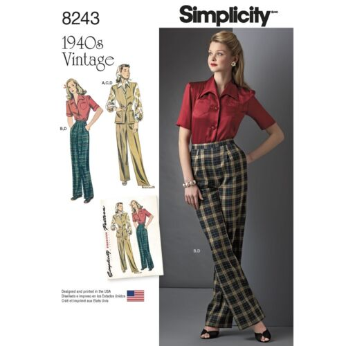 UPick SIMPLICITY VINTAGE 1940/'s SERIES Reissued Sewing Patterns Sizes 6-28W