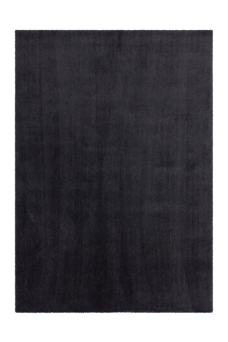Tapis Douillet Doux Uni Design Tapis Confortable Noir 160x230cm