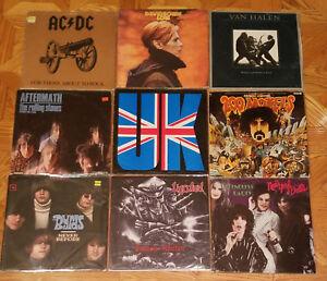 Punk-Classic-Rock-And-Heavy-etc-Lot-Of-3LP-039-s-Vinyl-Albums