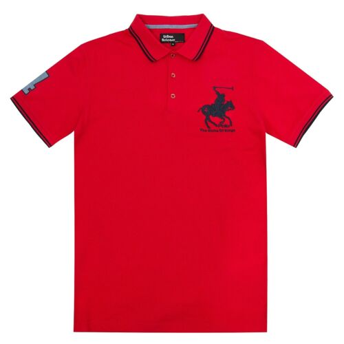 CREW NECK SHORT SLEEVE TOP DESIGNER T SHIRT HORSE PONY NEW MENS POLO