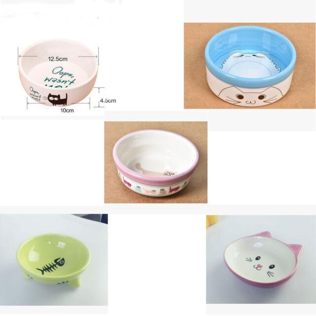 cat face design Pet Dog cat ceramic Feeding Bowl Food Water Dish Feeder