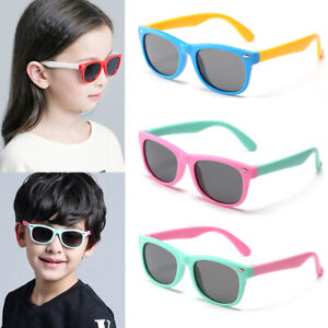Kids-Polarized-Sunglasses-TPEE-Rubber-Flexible-Boys-Girls-Frame-Outdoor-Glasses