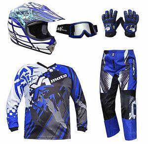 Youth Dirt Bike Boots >> Details About Kids Motocross Helmet Jersey Pants Gloves Goggles Mx Dirt Bike Gear Junior Youth