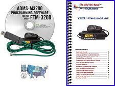 Yaesu FTM-3200DR Accessory Bundle w/ RT Systems Prog. Kit & Nifty! Mini-Manual