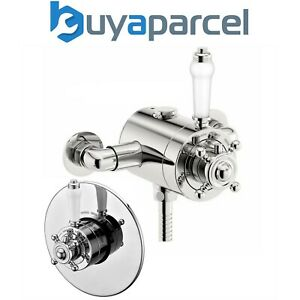 130mm to 160mm Centres Thermostatic Traditional Exposed Shower Mixer Valve