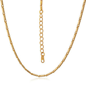 U7-18K-Gold-Plated-Necklace-Thin-Link-Chain-Replacement-Chain-for-Pendants-22-034