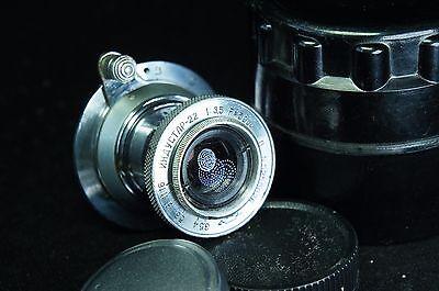 INDUSTAR-22 SILVER 3.5/50mm LENS M39 RED P for Leica M, Fuji FX, NEX, M4/3