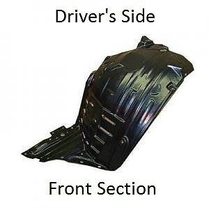 2003-2005 350Z Front DRIVER & PASSENGER Inner Fender Splash Shield Liners
