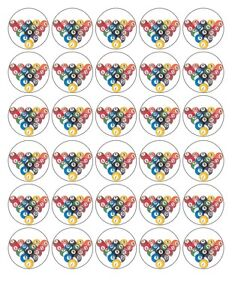 30-x-POOL-BALLS-PERSONALISED-EDIBLE-WAFER-FONDANT-PAPER-CUP-CAKE-TOPPERS