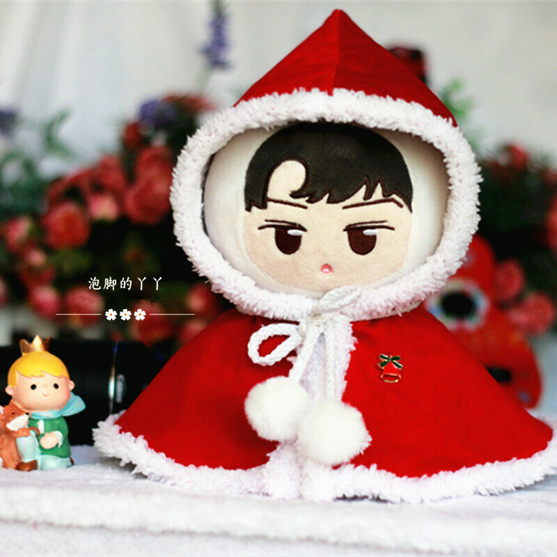 Hand-made Kpop Doll Clothes Cloak Cappa Rippet Stuffed Set Gift Red Cosplay N