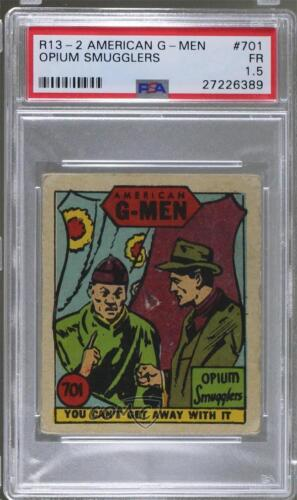 1930 1930s American GMen Crime Does Not Pay #701 Opium Smugglers PSA 1.5 FR k5c