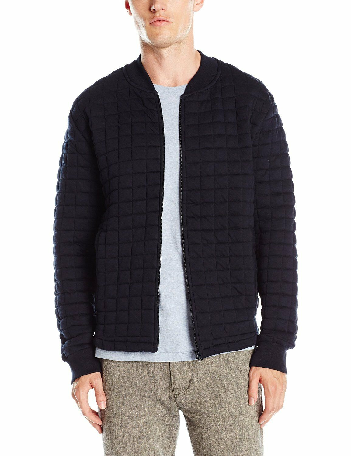 French Connection New  Herren Zip Up Sweatshirt Cardigan Cotton Cardi Top Marine