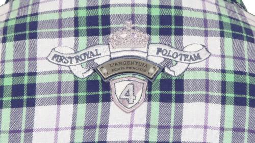 Damen 100 Bluse 38 Polo Baumwolle Größe Argentina Neu L' M Kariert Shirt Cotton 8qEY6xF