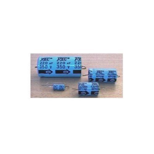 Trec 220uF//350V condensatore elettrolitico assiale DxL 25x57mm