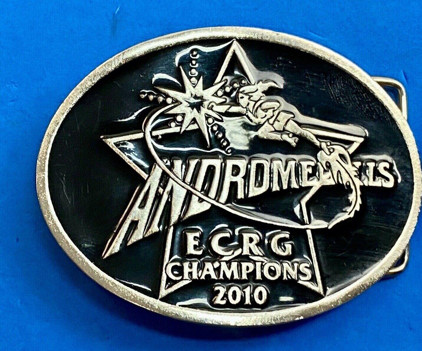 Andrdomedolls Roller Girls Emerald City ECRG Champions 2010 belt buckle