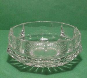 "crystal vase 4"" diameter 2"" tall"