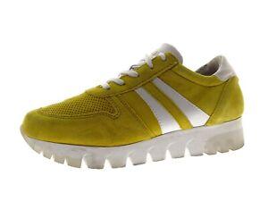 Tamaris Damen Sneaker Slipper Freizeitschuhe Laufschuhe Gr 38 Gelb Leder