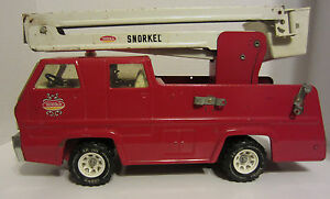 Vintage 1970's Tonka Snorkel Fire Truck Engine Metal Pressed Steel