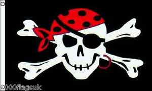 Romantique Pirate Skull And Crossbones One Eyed Jack 3'x2' Flag Larges VariéTéS