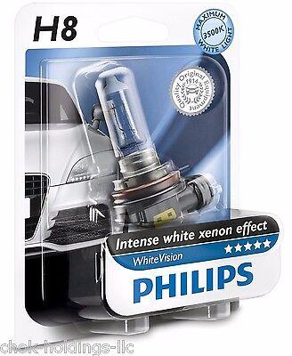 Philips H8 Vision Car head Light Bulb, White 12V 35W PGJ19-1 12360WHVB1