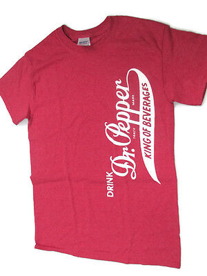 BRAND NEW Pepper side logo T-shirt Tee Small burgundy heather distressed Dr