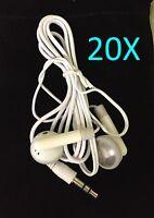20x Mp4 Player White Ear Bud In-ear Earphone, Lot Of 20