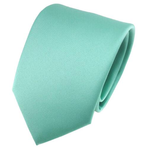 schöne TigerTie Satin Krawatte grün mint Uni Schlips Binder Tie