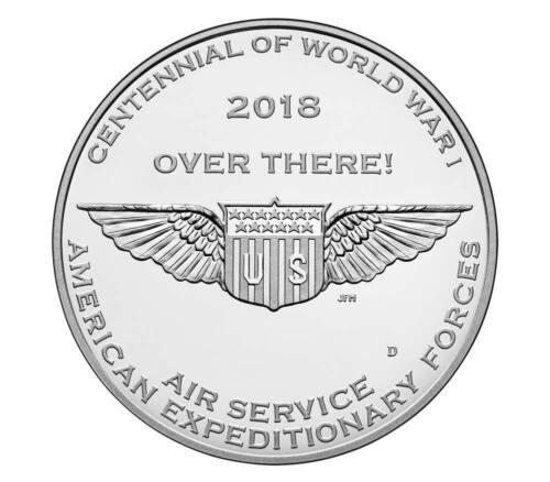 World War I Centennial 2018 Silver Dollar and Air Service Medal Set
