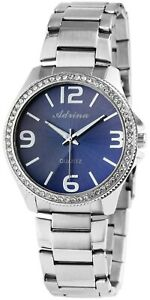 Adrina-Damenuhr-Blau-Silber-Strass-Analog-Metall-Quarz-Armbanduhr-X1800029004