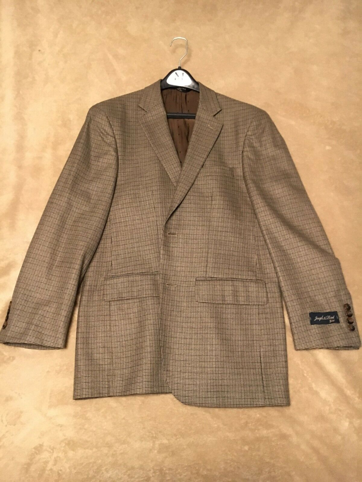 Joseph & Feiss gold Label Houndstooth Men's Sport Coat   Blazer (Size 38 R)