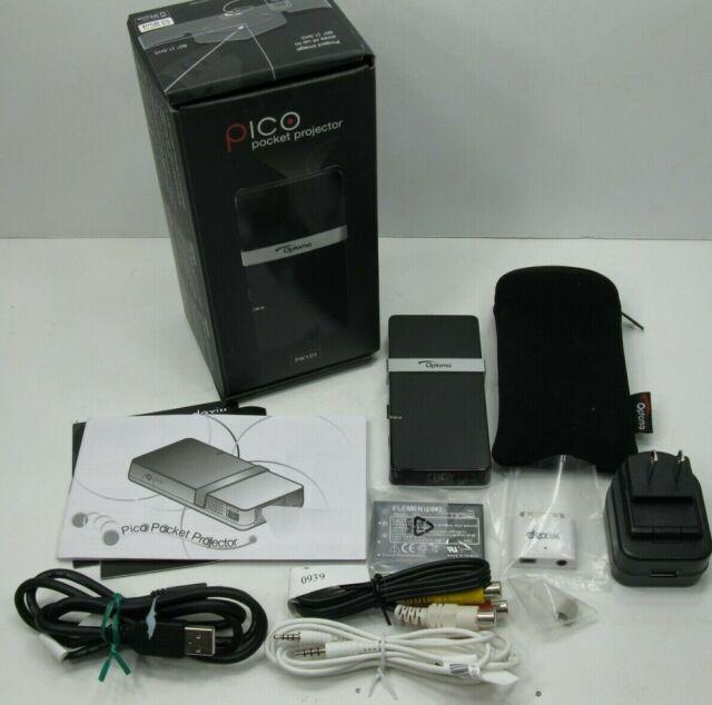 Pico Projector Mini Pocket Video Projector Optoma PK101 Cables Case Bundle