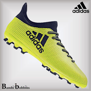 huge selection of 467ce 8b776 Details about Adidas X 17.3 AG Size UK Kids 10 Infant Yellow Sock Football  Boots Girls Boys
