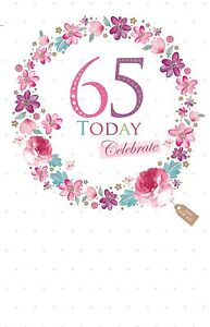 Image Is Loading 65 Today Celebrate 65th Flower Ring Design Bright