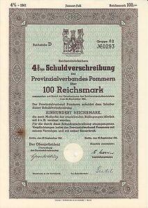 AV-VD-Pommern-Stettin-1941-4-Schuldverschreibung-100-Reichsmark-AK2