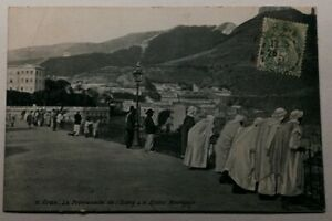 482-Antica-Cartolina-Arancio-la-Promenade-da-L-039-Etang-il-Djebel-Mourdjajo