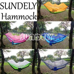 image is loading uk outdoor travel jungle camping hammock garden hanging  uk outdoor travel jungle camping hammock garden hanging nylon bed      rh   ebay co uk