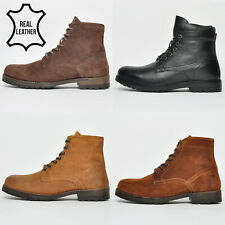 Red Tape REAL LEATHER Mens Toft & Valiant Classic 6 inch Military  Boots