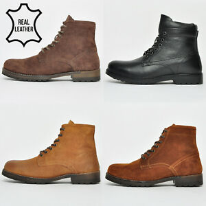 Red Tape REAL LEATHER Mens Toft & Valiant Classic 6 inch Boots From £14.99