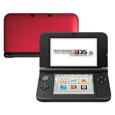 Nintendo 3DS XL - Red & Black Handheld System Very Good Condition